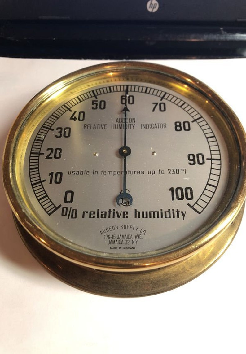 Vintage Abbeon Relative Humidity Indicator in Fine Working Order as Pictured