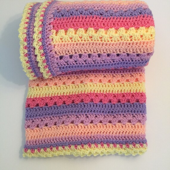 Babydecke Decke Handarbeit Häkeln Decke Häkeln Kinderbett Etsy