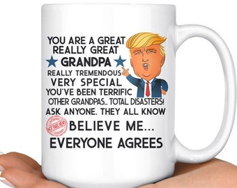 Trump Gifts Grandpa For Mug Grandfather Gift Birthday Grandparents Day Him Funny