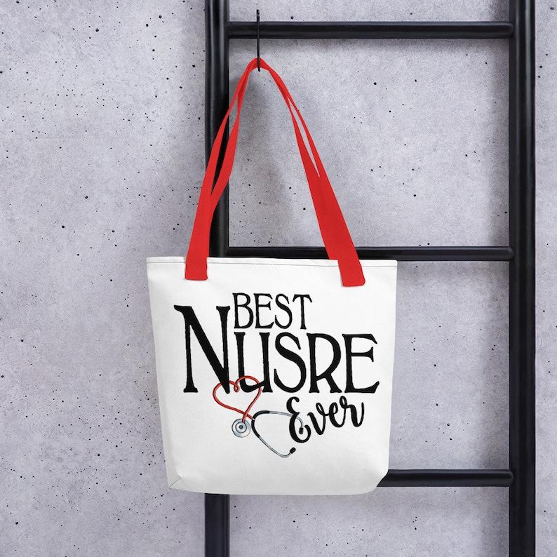 Best Nurse Ever Tote Bag Nurse Graduation Nurse Appreciation Nurse Grad Gift Graduate Nurse Student Nurse Gift Idea Nurse Life Nurse Week