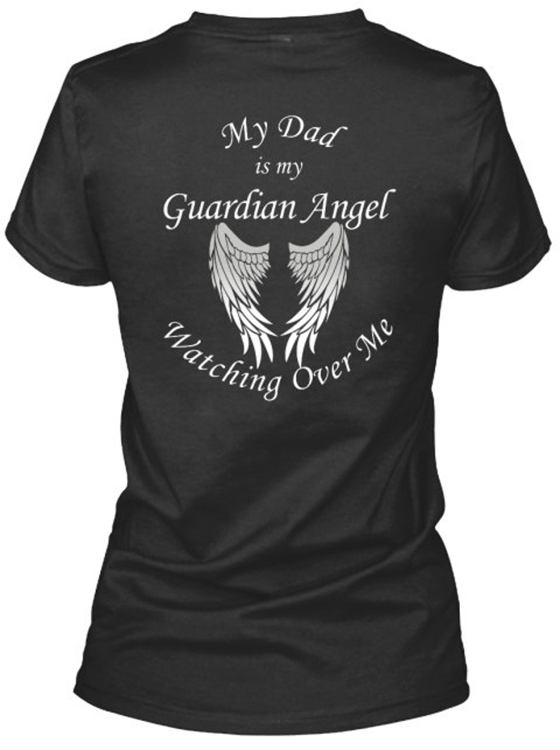 f41d607e131b24 Dad Guardian Angel Wings Shirts And Hoodies Dad Angel Wings | Etsy