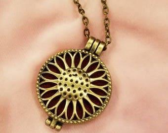 Oil Diffuser Locket Necklace