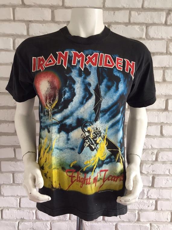 1983 vintage Iron Maiden tee shirt flight of Icaru