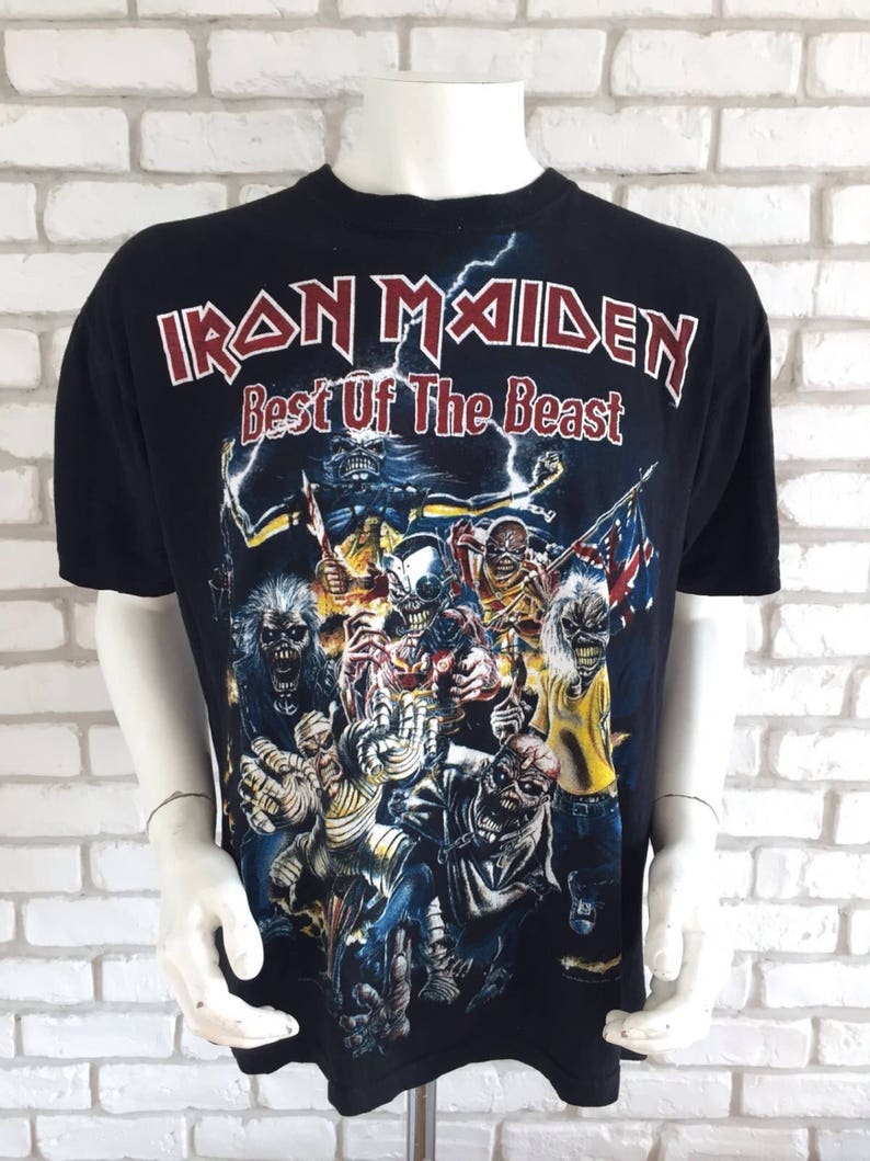 612e823a8d Vintage Iron maiden best of the beast tshirt 90s | Etsy