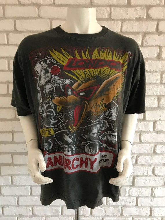 Early 90's vintage sex pistols tee shirt anarchy e