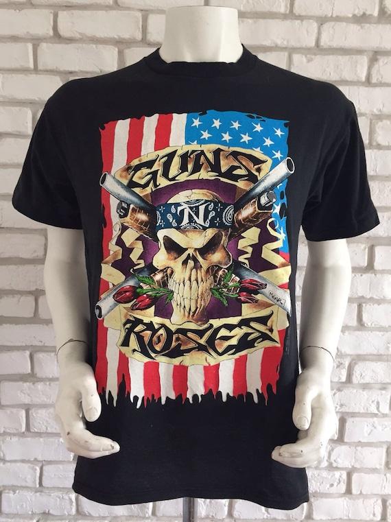 1991 vintage guns n roses tour shirt