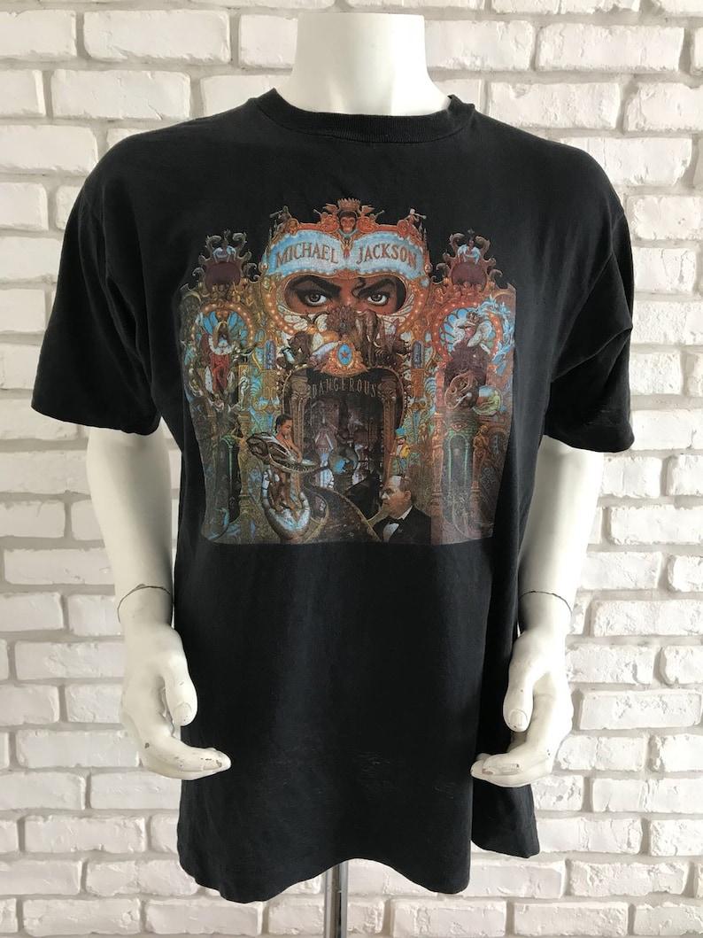 f1efa56b 1992 vintage Michael jackson dangerous tee shirt | Etsy