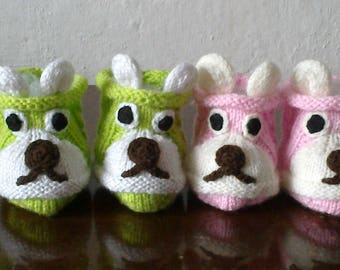 Knitted Baby Booties, Cute Baby Boots