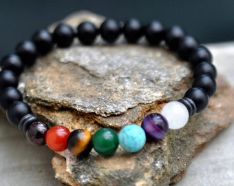 Chakra Bracelet Gifts For Her Mother's Day Gift Armband Chakra Bracelet Yoga Bracelet Mala Bracelets Meditation Bracelet Protection Bracelet