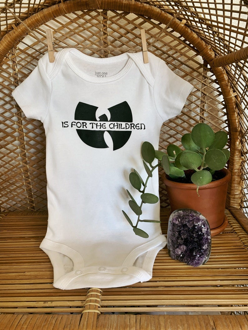 Wutang Clan Kids Baby Shower Gift Baby Clothing Infant Long Sleeve Bodysuit Unisex Funny Hipster Rap Wu tang Is For The Children