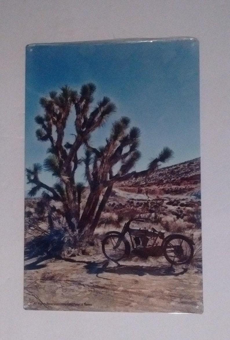 Desert Tree Bike 24 Gauge Sign Collectible Shop Home Office Gift