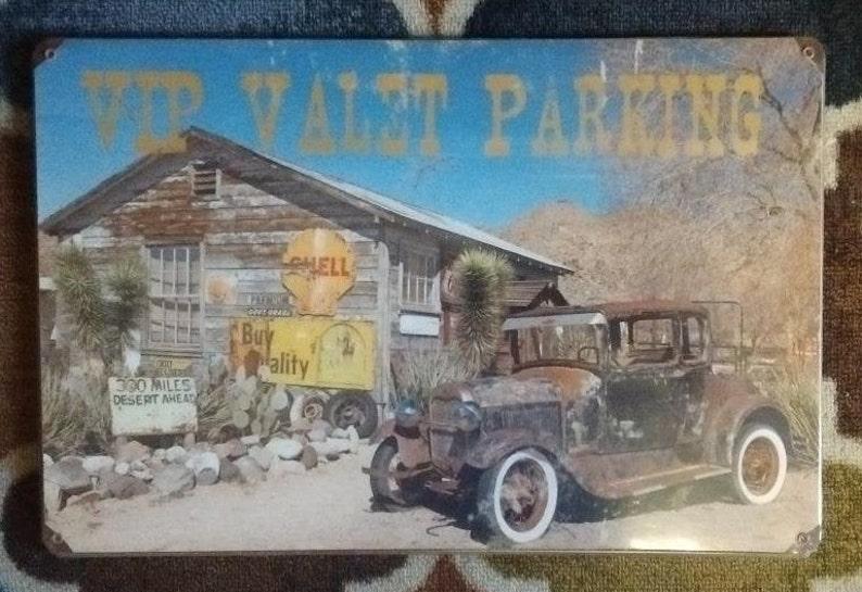 VIP Valet Parking Sign Mechanic Cabin Shop Home Lodge Garage Decor
