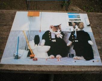 16x20 CATS SMOKING Card Stock Print Poster Home Decor