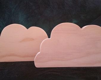 Large Cloud Cut Outs Set of 2 -006