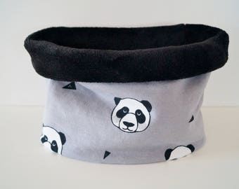 snood baby and toddler fleece panda Choker