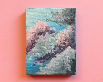 "Mini canvas original painting: ""Overcast"""