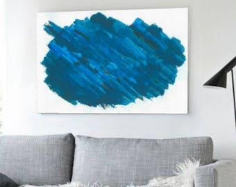 Printable Abstract, Large Art Prints, Brush Prints, Simple Prints, Navy Blue Painting, Minimalist Art, Abstract Art Print, Wall Art, Prints