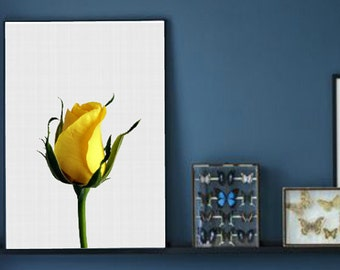 Roses Print, Rose Wall Art, Yellow Rose Art, Flowers Print, Rose Printable, Flower Wall Print, Yellow Flowers, Instant Download, Home Decor