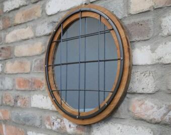 Wall Mirrors U.K. | Industrial Round Mirror | Home Decor UK | Home Accessories | Round Mirror