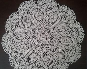 Vintage crochet pineapple doily