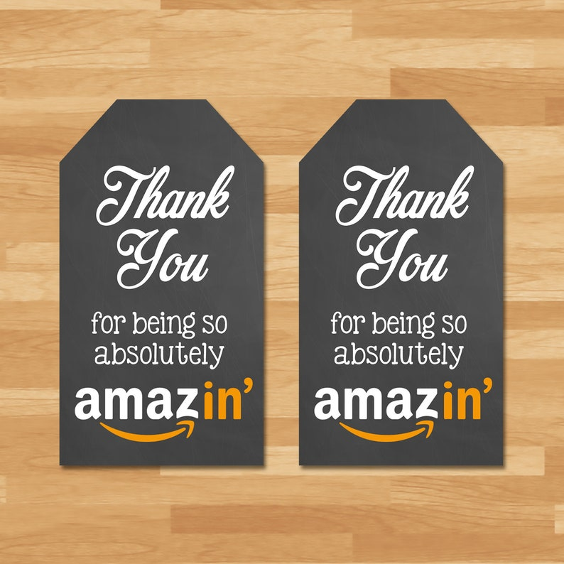 Amazon Thank You Tag - Thank You for Being Amazing Thank You Tag - Teacher Appreciation Week Thank You Tags - Teacher Thank You Tags