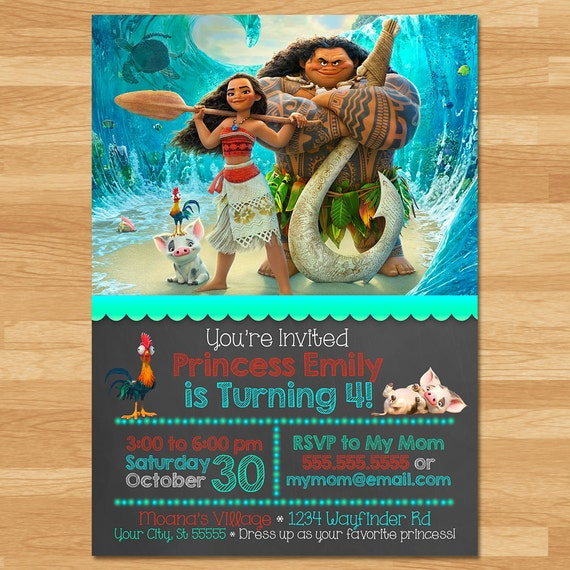 picture regarding Printable Moana Invitations named Moana Invitation - Chalkboard - Moana Invite - Disney Princess Invite - Princess Printables - Moana Birthday Occasion Favors - Moana Printables