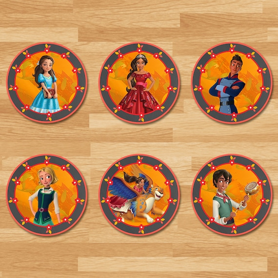 birthday party 12 Elena of Avalor JUMBO STICKERS for Lollipops goody bags