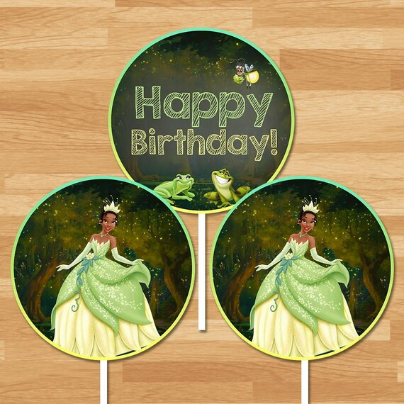 Princess and the Frog Centerpiece - Chalkboard - Frog Princess Party Centerpiece - Princess Tiana Party - Princess Party Printable 100444