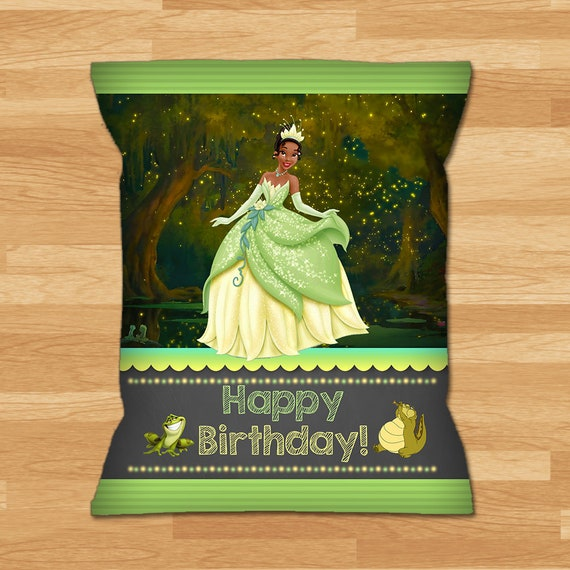 12 PRINCESS AND THE FROG TIANA BIRTHDAY PARTY Chip Snack Bag Label Personalized