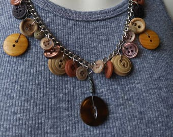 Vintage buttons in brown