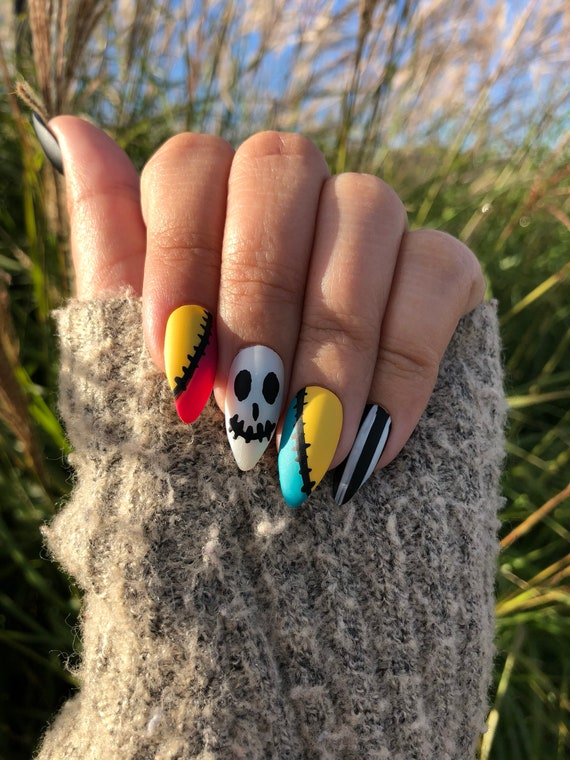 Nightmare Before Christmas Inspired Nails