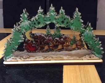 Christmas scene 3D