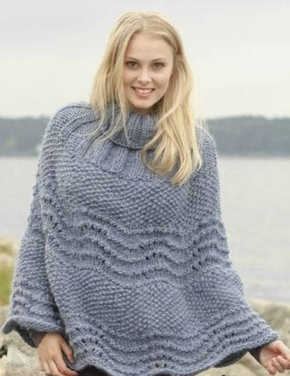 Womens knitted cape poncho Custom made wool poncho Shrug bolero made to order Cloak shawl Braided cape knit