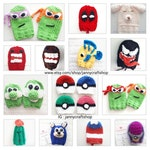 Custom shift knob cover beanie knitted - character