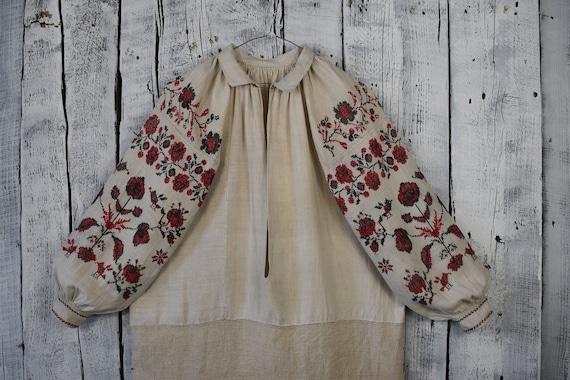 Vintage Ukrainian embroidered shirt / Vyshyvanka /