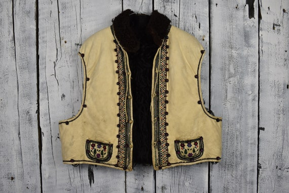 Antique Ukrainian vest / Traditional Ukrainian  sl