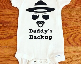8abb5dac0 Daddy's Backup State Trooper Onesie