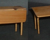 Miniature GUSTAFSON DROP LEAF Table With Working Drawer
