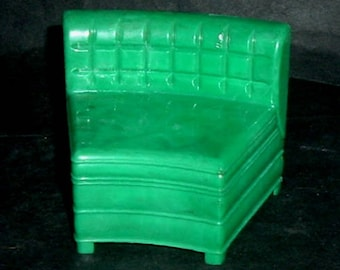 VINTAGE CENTER SECTIONAL - Green - 1950'S (Ideal)