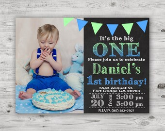 1st birthday invitations boy etsy its the big one invitation first birthday invitation 1st birthday boy invite with free thank you card personalized digital file filmwisefo