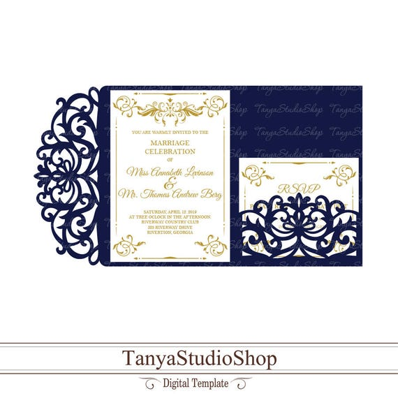 Wedding invitation template svg dxf ai crd eps laser etsy image 0 stopboris Images