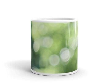 Green bokeh Mug