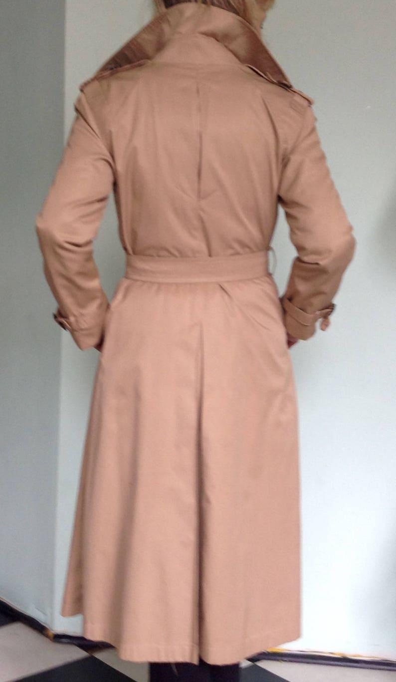 KHAKI TRENCH COAT Xsmall European designed swallow tail back