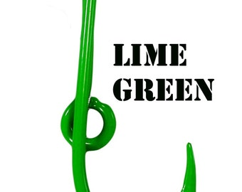 fc6f4be65bc9 Lime Green Powder Coated Fish Hook for Cap Brim or Bill - Hat Pin - Tie  Clasp - Money Clip