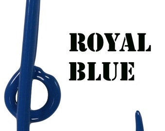 460b3a638ccd Fishing Hook for Cap Bill or Brim - Royal Blue Powder Coated fish hook - Hat  Pin - Tie Clasp - Money Clip