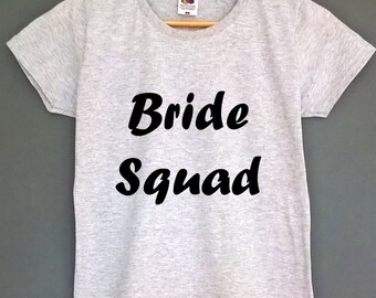 Bride squad tshirt hen party shirt hen party tshirt hen part top tee bride to be wedding shirt engagement tshirt fiance tshirt hen outfit