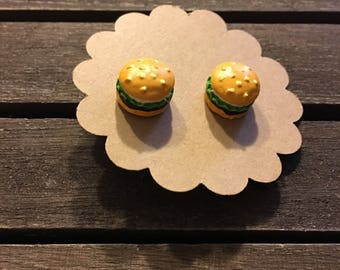 Cheeseburger Earrings, Food Earrings, Fun Jewelry, Fun Earrings