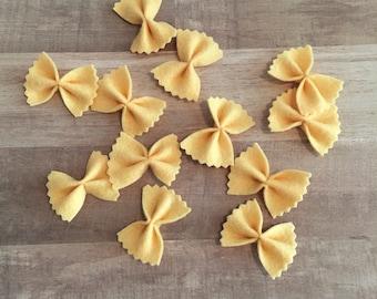 Bow Tie Pasta, Felt Pasta, Pretend Play Food, Pretend Pasta