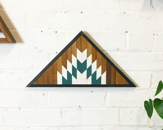 Reclaimed Lath Mountain Art, Triangle Wall Hangings, Mountain Wall Hanging, Boho Wall Hanging, Wooden Mountains Art, Wood Mountains Art