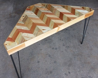 Corner Desk - Chevron Top